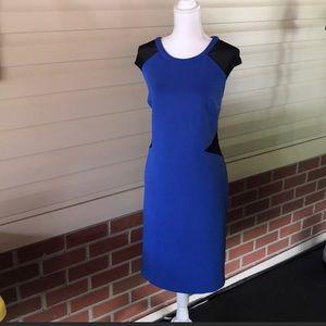 Worthington Blue with black mesh dress size 18